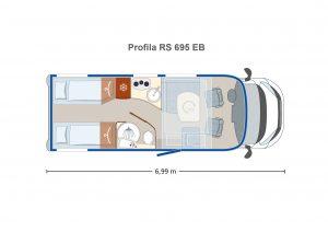 Eura Mobil Profila RS 695EB semintegrale letti gemelli alta qualità presso Transweit concessionario e assitenza camper como