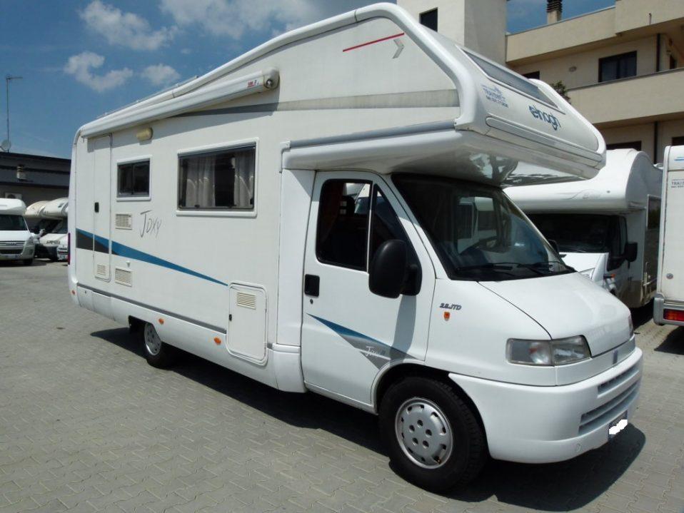 Elnagh Joxy 11 camper mansardato 7 posti usato in vendita presso transweit concessionario e assistenza camper e caravan como