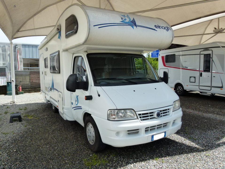 Elnagh Big Marlin camper mansardato usato con 7 posti letto in vendita presso transweit concessionario e assistenza camper como