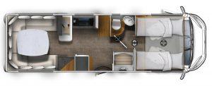 Eura Mobil Integra 760HS motorhome con ampia dinette in coda pronta consegna Transweit concessionario e assistenza Como