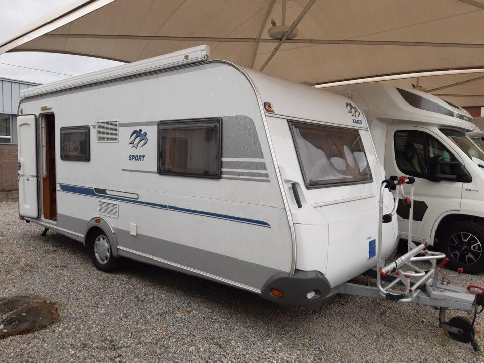 Knaus Sport 500QDK caravan usata