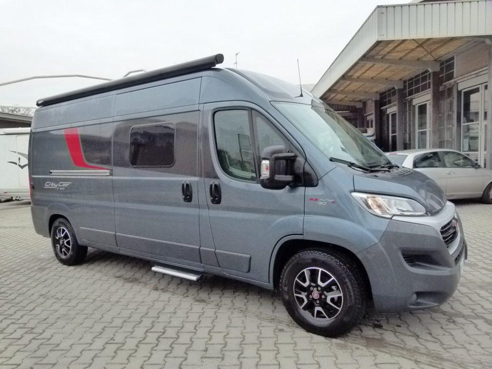 Burstner City Car C 601 camper van con doppio letto matrimoniale posteriore usato in vendita presso Transweit