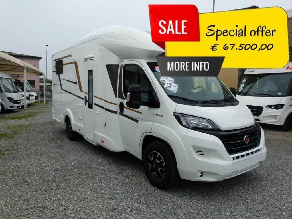 Eura Mobil Profila RS 695EB camper seminteegrale letti gemelli e garage occasione pronta consegna presso transweit concessionario e assistenza como