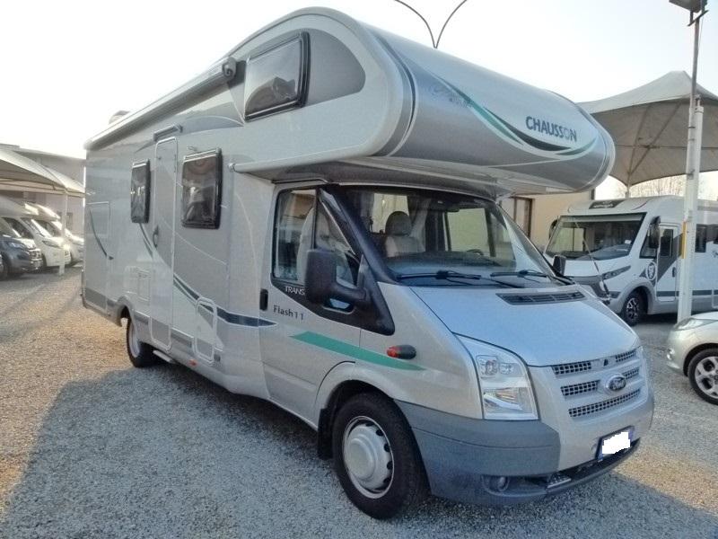 Chausson Flash 11 camper mansardato garage usato in vendita presso transweit concessionario e assistenza camper como