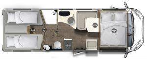 Eura mobil Integra Line 720Eb motohome letti gemelli pronta consenga presso Transweit concessionario e assistenza como