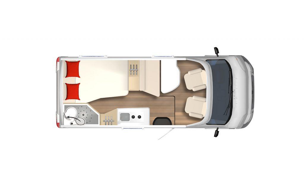 Burstner Nexxo Van T 569 camper semintegrale compatto vendita presso transweit concessionario e assistenza camper Como