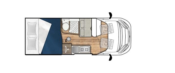 Elnagh E-van Duo Xl Premium camper van in pronta consegna presso transweit concessionario e assistenza como