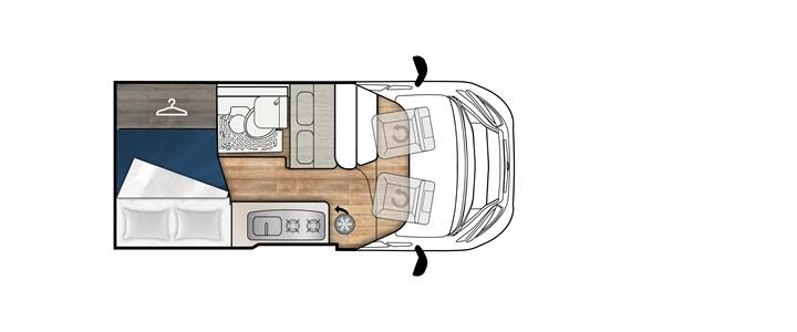 Elnagh E-Van 2 Premium con letto pop up in pronta consegna presso transweit concessionario e assistenza camper como