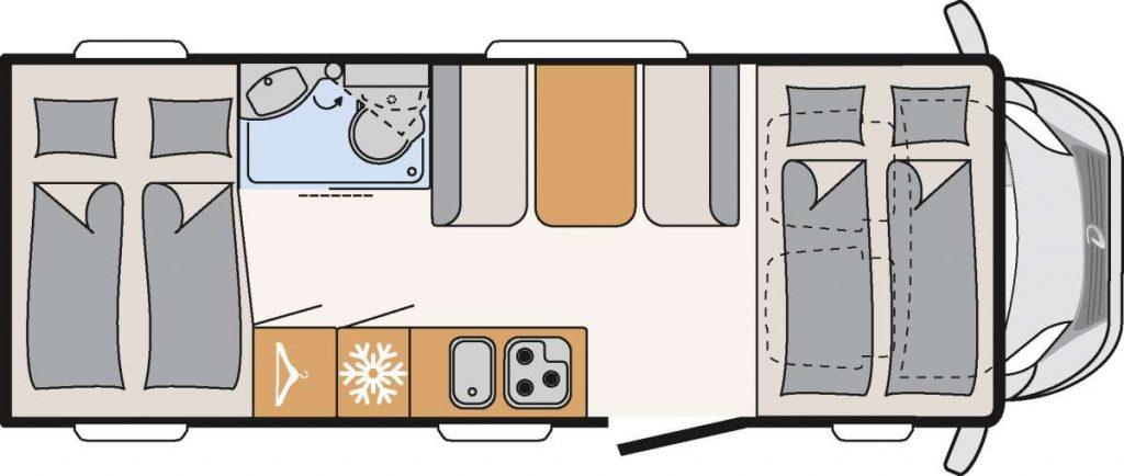 dethleffs camper mansardato garage usato in vendita presso transweit concessionario e assistenza como