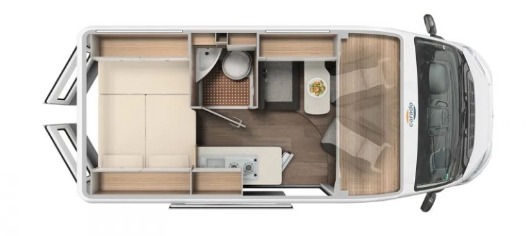 carado camper van 540 con tetto popup pronta consegna presso transweit concessionario e assistenza como
