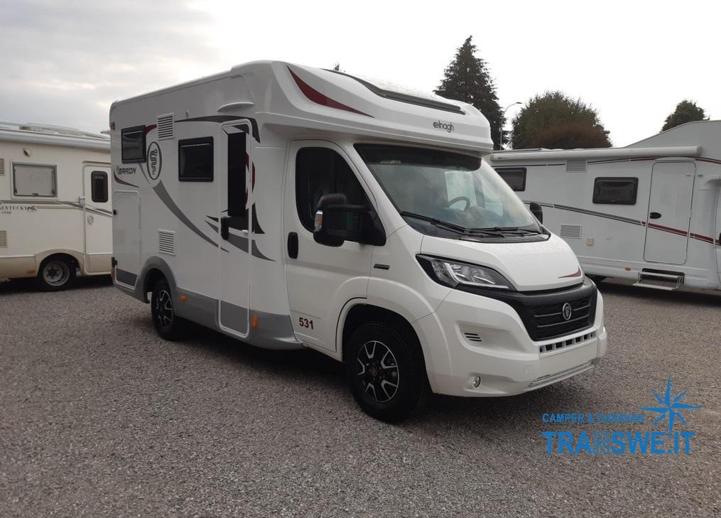 Elnagh Baron 531 camper semintegrale compatto con garage in vendita presso transweit concessionario e assistenza como